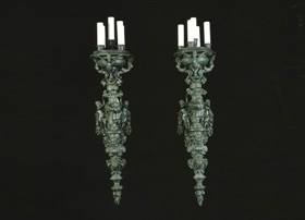 Caldwell Chandelier and Wall Appliques
