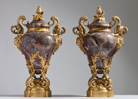 Gagneau-Freres-Marble-and-Bronze-Mounted-Vases