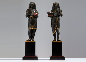 Pair-of-Picault-Egyptian-Figures