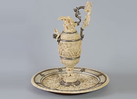 Carved-Ivory-Ewer-and-Charger