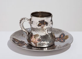 Tiffany Butterfly Cup and Saucer