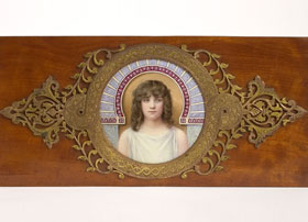 Enamel-on-Copper-Portrait-of-a-Young-Girl-by-Hideux